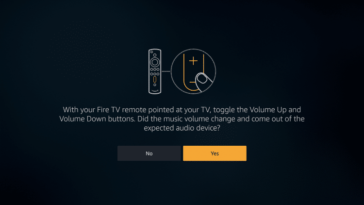 Sound Bar Setup Screen